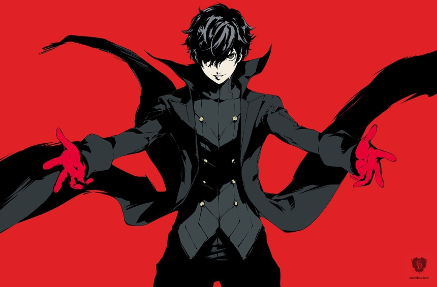 Joker is artwork from video game Persona 5 by publisher Atlus