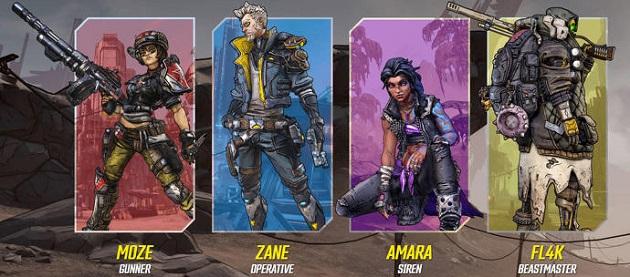 Borderlands 3-Characters